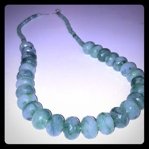 Miny green costume jewelry big bead necklace QVC